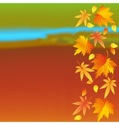 Autumn wallpaper with landscape and leaf fall vector