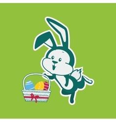 Easter Rabbit Icon Egg Design Flat vector image