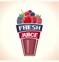 fresh berry juice vector image