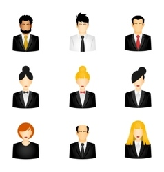Icons of business people vector image vector image