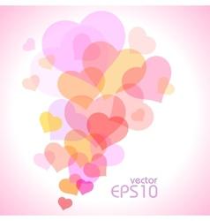 Spot of many hearts vector image
