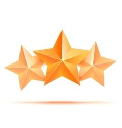 Three 3d gold stars premium The best reward vector image