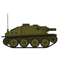 Vintage tank destroyer vector
