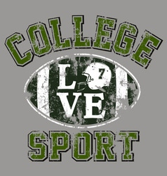 college Football vector image vector image