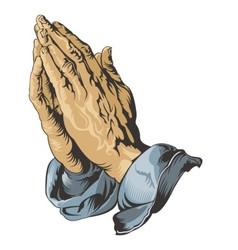 Praying Hands tattoo vector image
