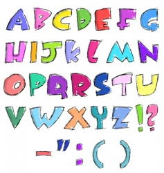 sketchy letters vector image vector image