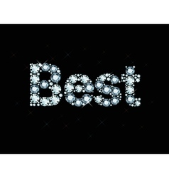 Diamond word best vector image vector image