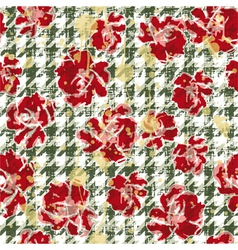 Floral grunge wallpaper vector image