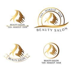 logo for beauty salon spa salon beauty shop vector image vector image