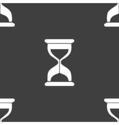 Sand clock glass timer web icon flat design vector