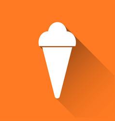 simple ice cream icon holiday symbol vector image