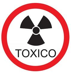 Toxico vector image vector image