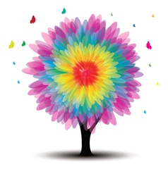 tree with flower vector image vector image