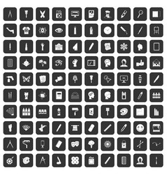 100 paint icons set black vector