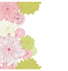 Abstract floral background flower element for vector image