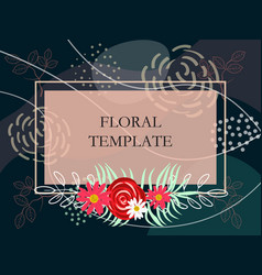 abstract floral template vector image