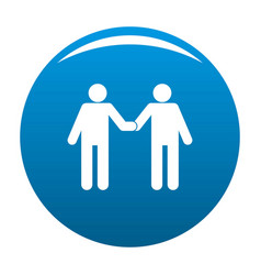 agreement icon blue vector image