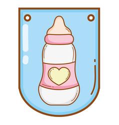 baby bottle cartoon vector image