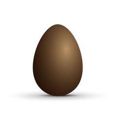 brown sweet chocolate egg on white background vector image