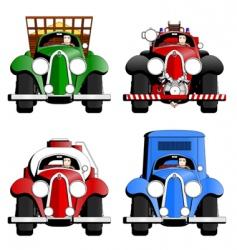 Cartoon trucks vector