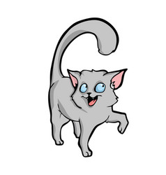 cat cute cartoon on white background vector image