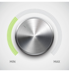 Chrome Volume Knob vector image