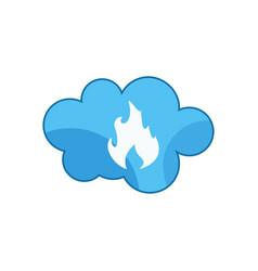 cloud fire blue vector image