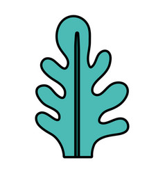 Color botanic cute leaf natural style vector