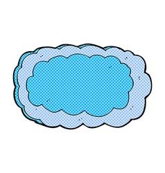 Comic cartoon cloud symbol vector