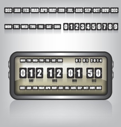 Countdown Timer and Date vector image