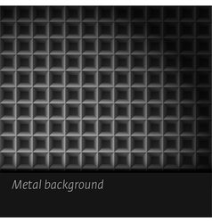 Dark metal background vector