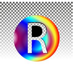 Decorated circle register trademark symbol vector