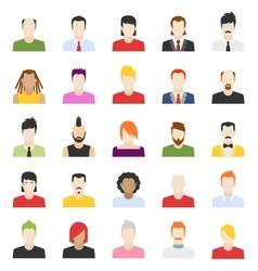 Design people avatars vector