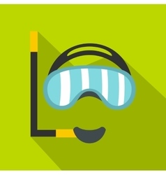 Diving mask icon flat style vector