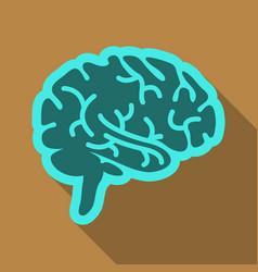Drawing of a human brain human medicine icons vector