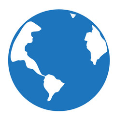 earth icon pictograph of globe globe icon vector image