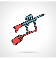 Flat color icon for paintball gun vector image