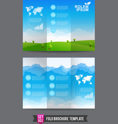 Fold brochure background template 0002 vector