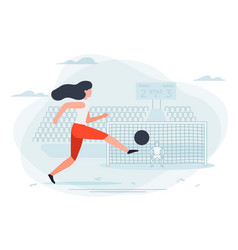 Girl football player vector