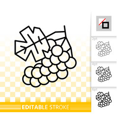 Grape simple black line wine organic icon vector