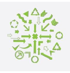 Green arrows vector