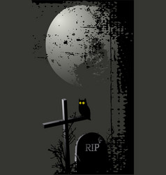 Halloween background with a owl vector