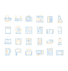 home electrical icons household modern appliance vector image