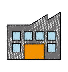 Industrial building icon vector