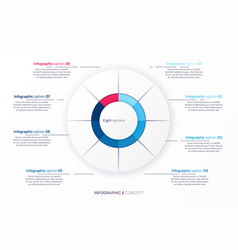 infographic round chart template vector image