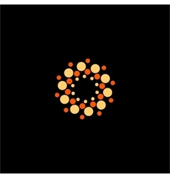 Isolated abstract yellow and orange flower vector