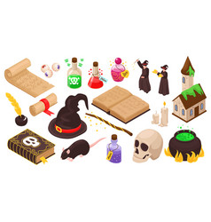 Isometric magical set vector