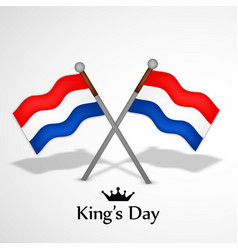 Koningsdag day background vector