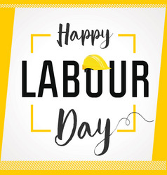 Labour day card vector