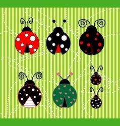 Ladybug sets vector